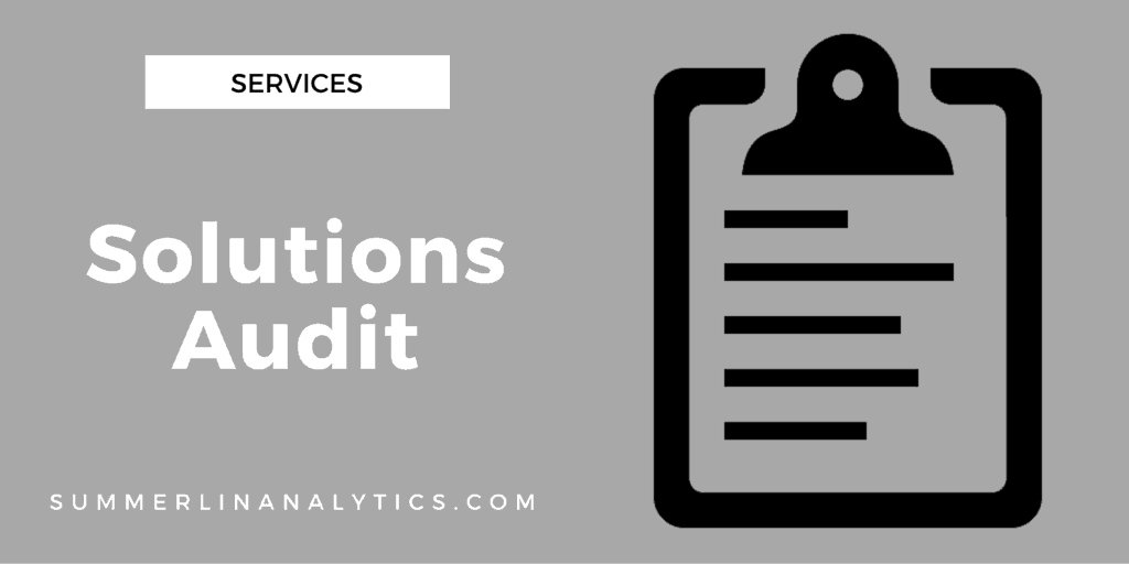 Services - Solutions Audit
