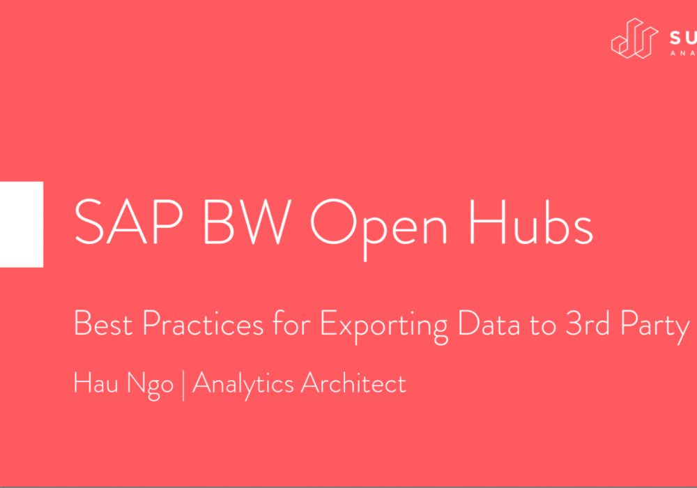 Exporting Data from SAP BW: Tips & Lessons Learned