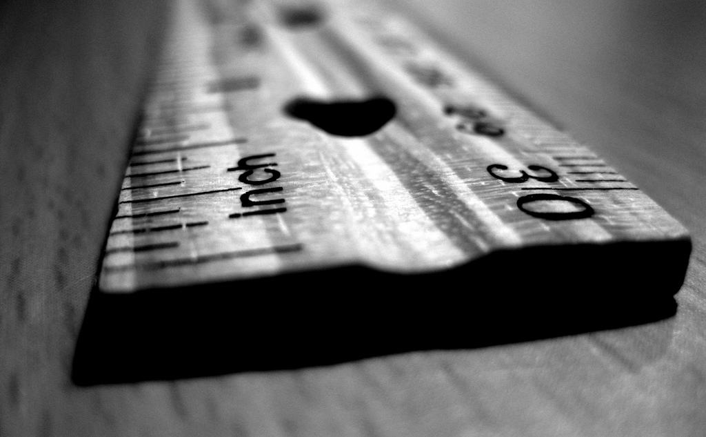 measuring stick ruler
